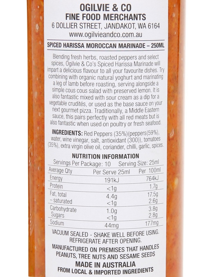 Spiced Harissa Marinade 250ml image 2