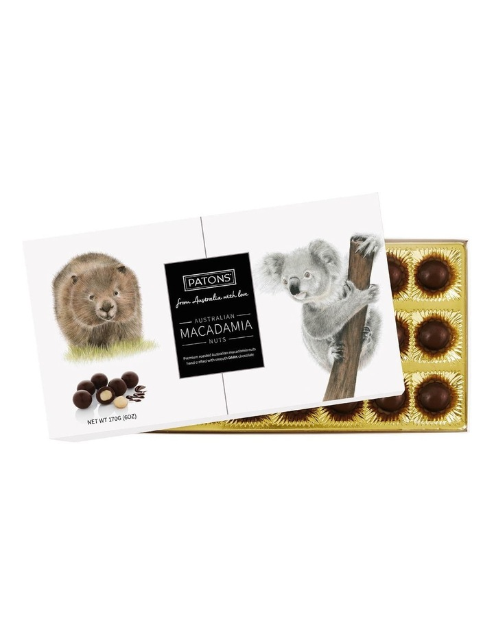 Dark Chocolate Coated Macadamias Australian Animals 170g image 1