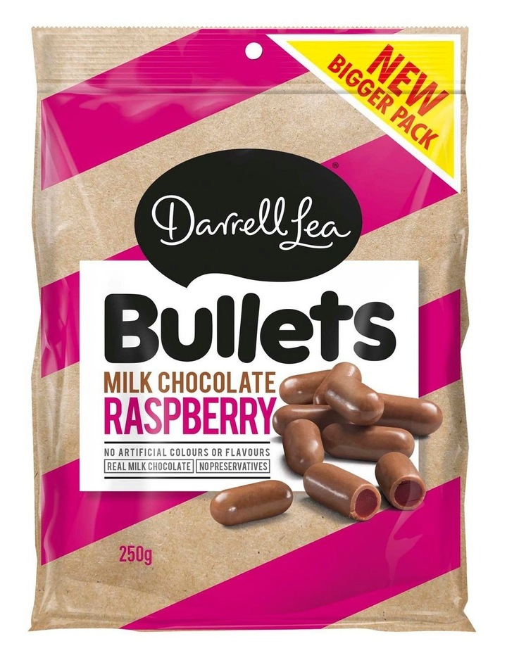 Bullets Raspberry Milk 250g image 1