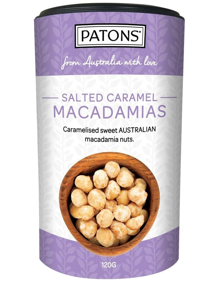 Patons Caramelised Macadamias with Salted Caramel Cannister 120g image 1