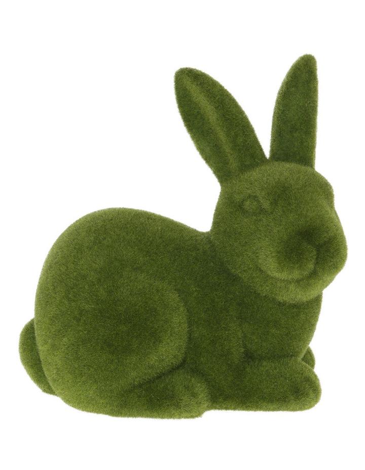 Green Moss Bunny Sitting image 1