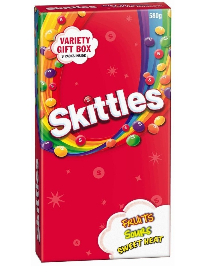 Giant Candy Box - Assorted Skittles 580G image 1