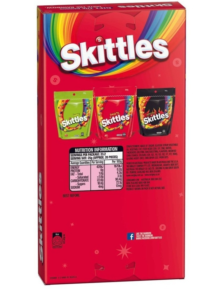 Giant Candy Box - Assorted Skittles 580G image 2