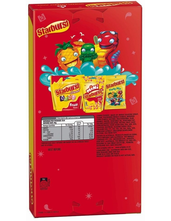 Giant Candy Box - Assorted Starburst 595G image 2