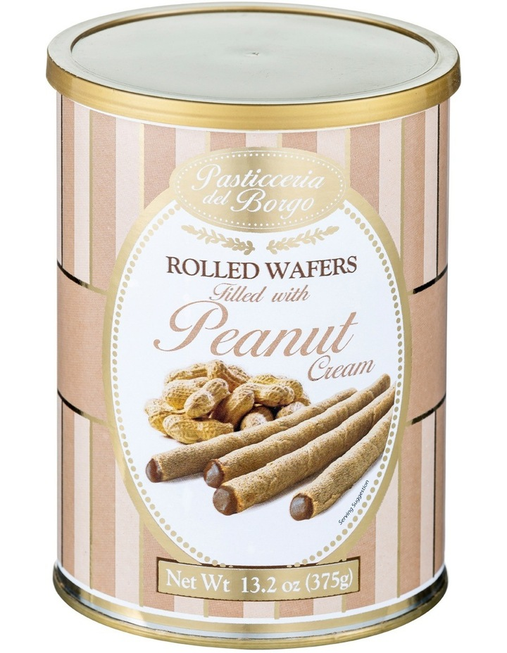 Rolled Wafers filled with Peanut Butter Cream 375g image 1