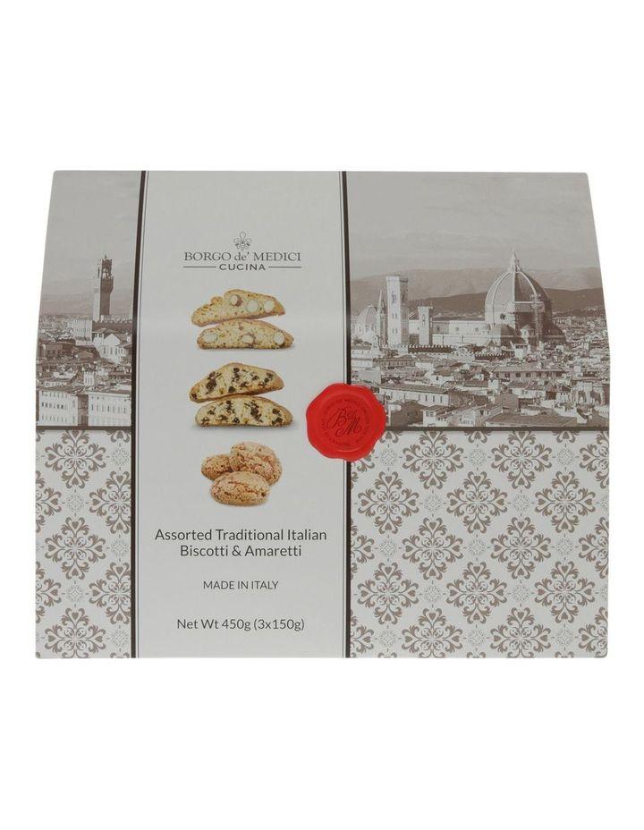 Traditional Italian Biscotti & Amaretti Box 3x150g image 1