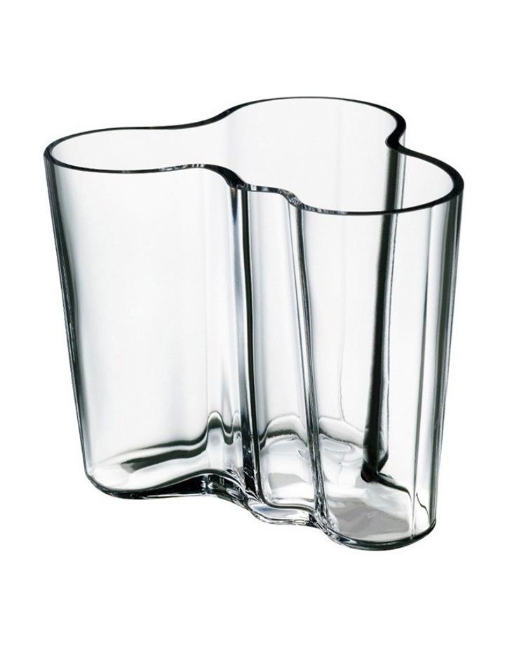 Alvar Aalto Vase 9.5cm Clear image 1