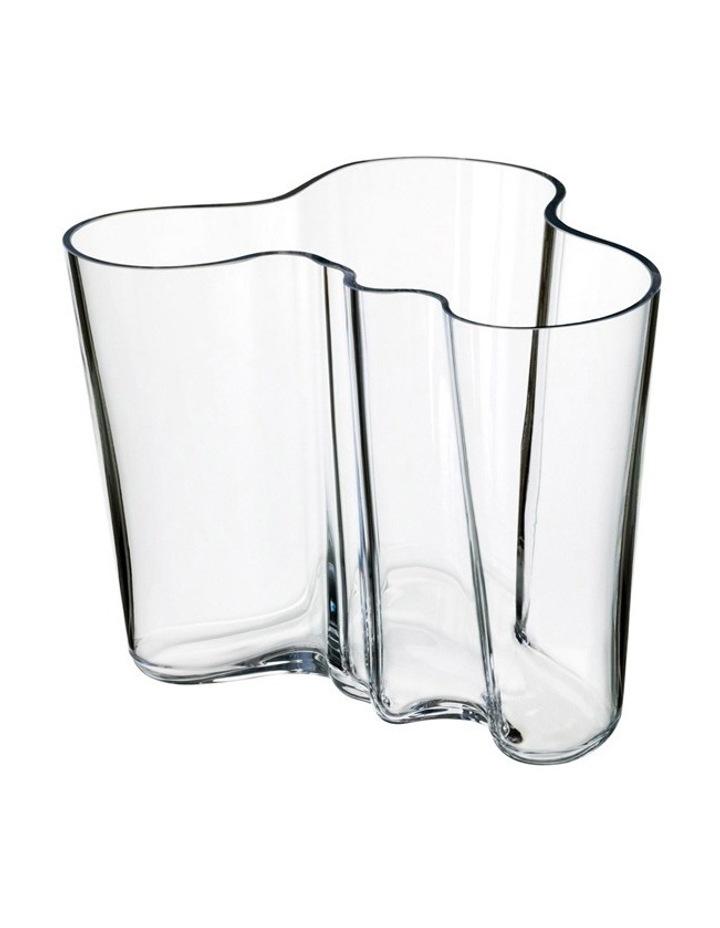 Alvar Aalto 12cm Glass Vase in Clear image 1
