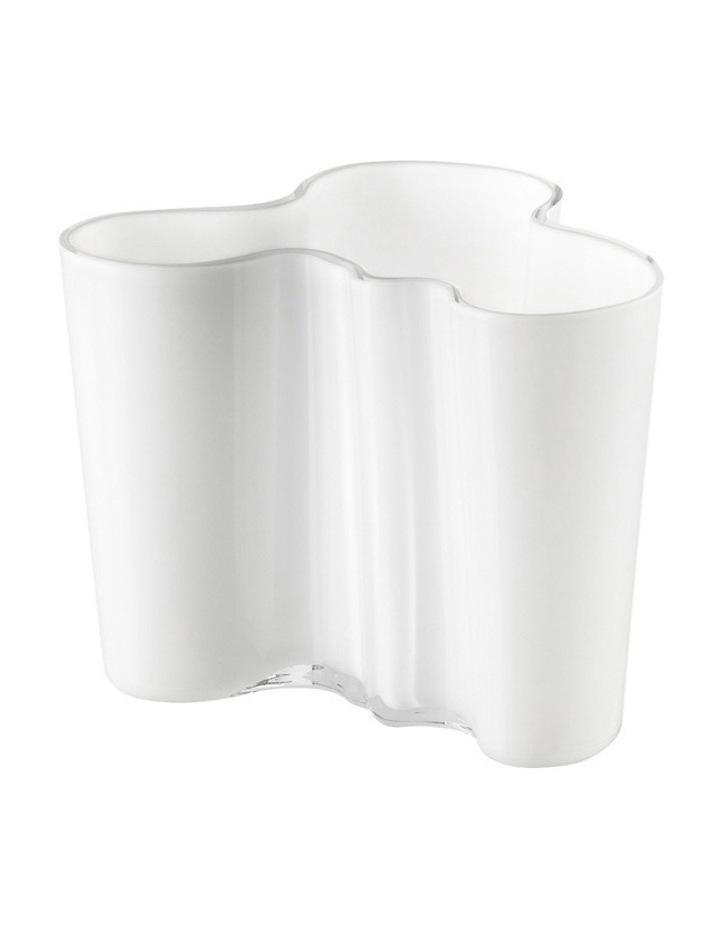 Alvar Aalto 12cm Glass Vase in White image 1