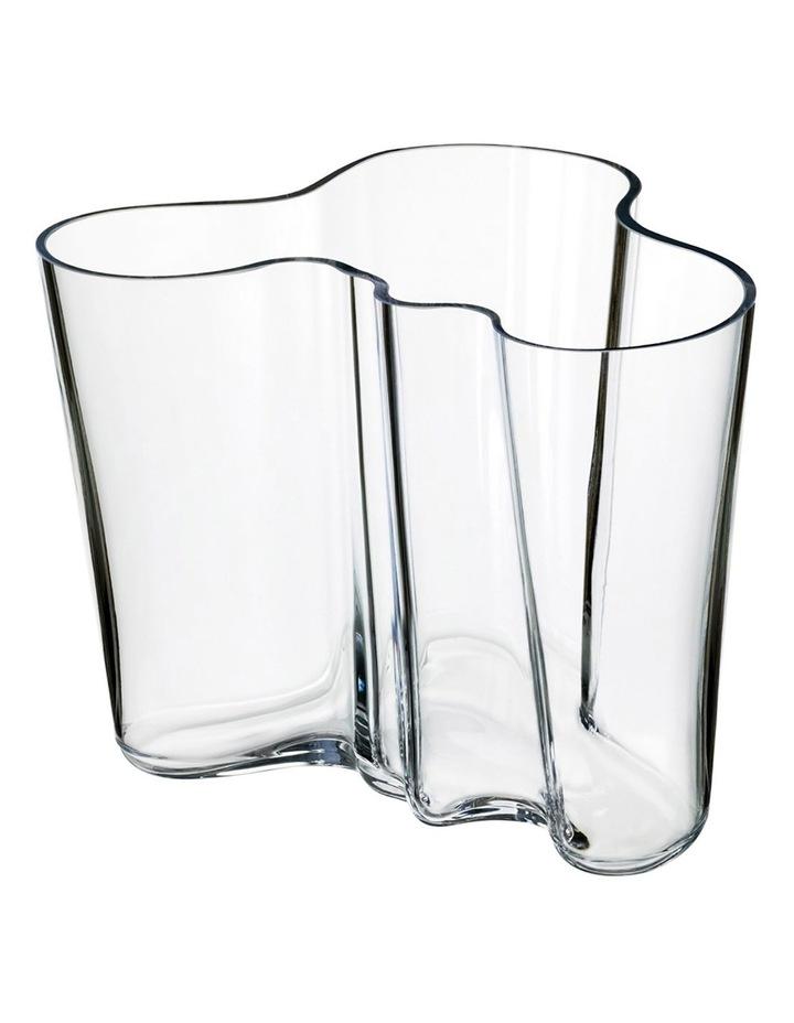 Alvar Aalto 16cm Glass Vase in Clear image 1