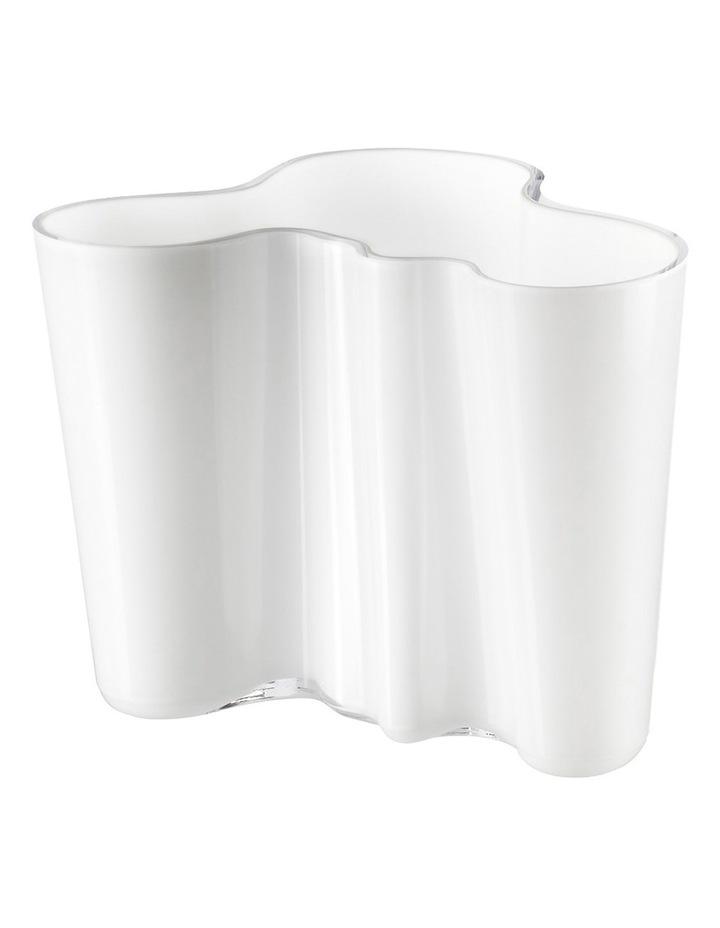 Alvar Aalto 16cm Glass Vase in White image 1