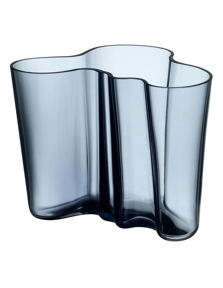 Alvar Aalto 16cm Glass Vase in Rain image 1