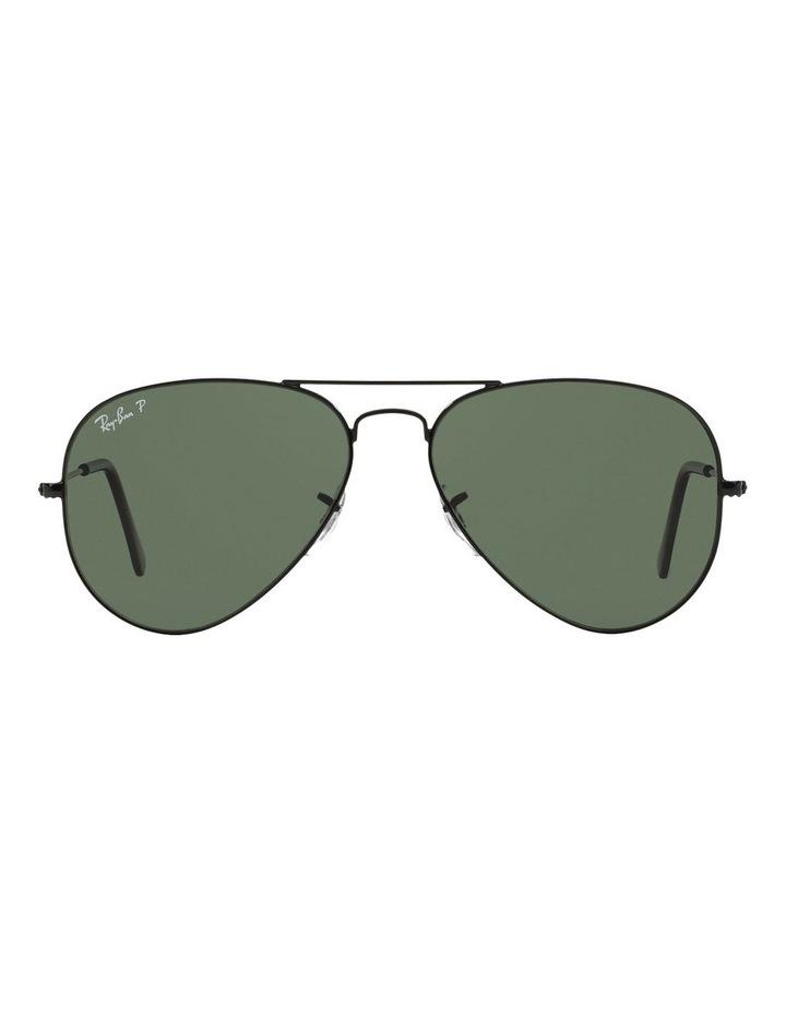 d52c1ffb0d Aviator RB3025 Sunglasses In Black Polarised image 1