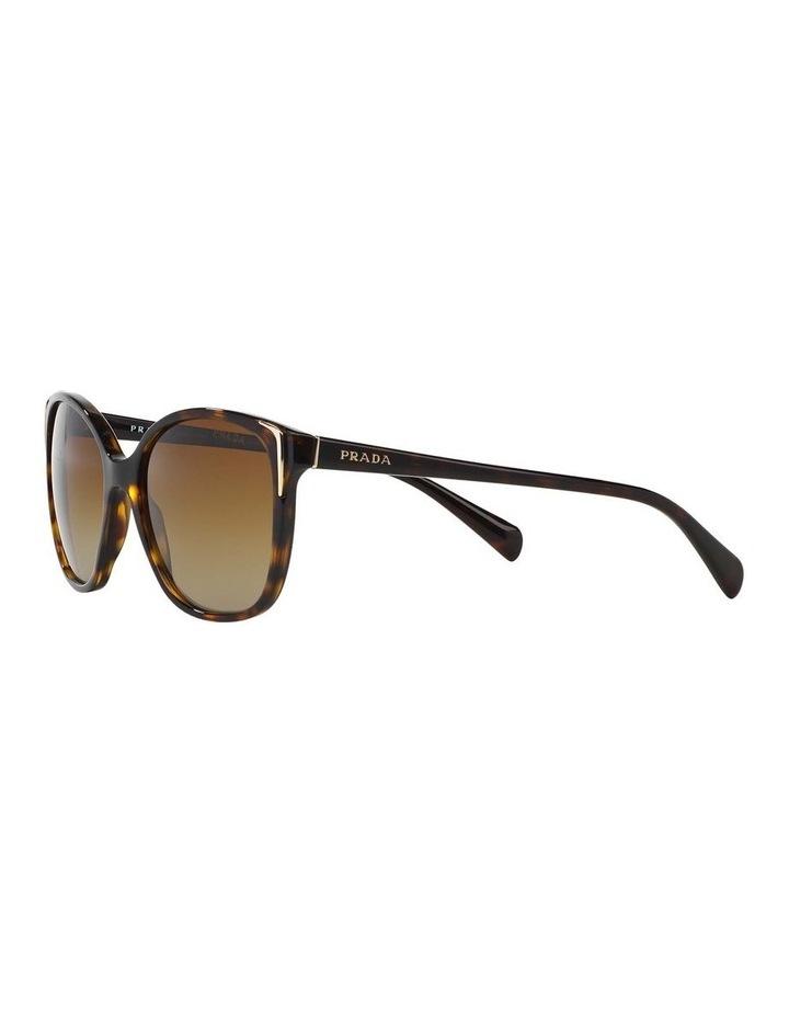 Polarised Havana Square Sunglasses PR 01OS 350638 image 3