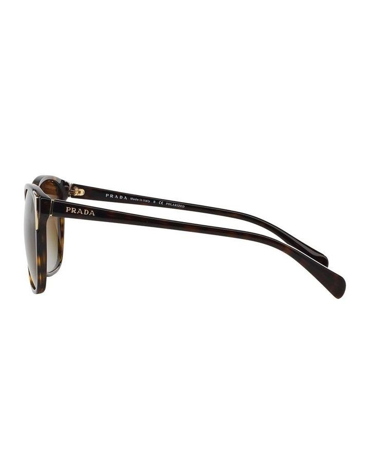Polarised Havana Square Sunglasses PR 01OS 350638 image 4