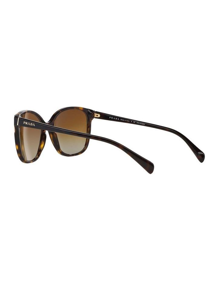 Polarised Havana Square Sunglasses PR 01OS 350638 image 5