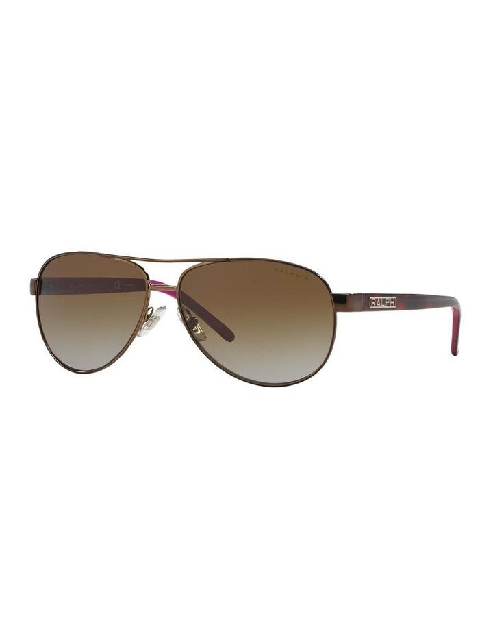 Polarised Burgundy Pilot Sunglasses RA4004 348564 image 1