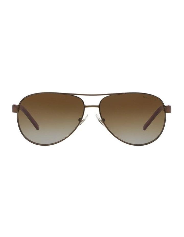 Polarised Burgundy Pilot Sunglasses RA4004 348564 image 2