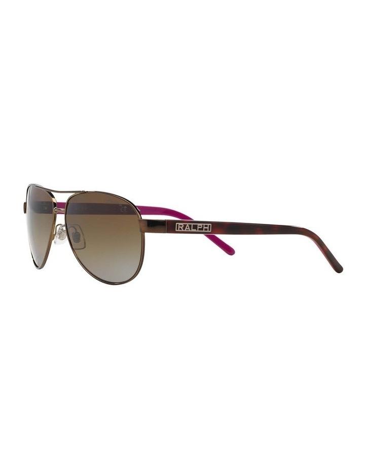 Polarised Burgundy Pilot Sunglasses RA4004 348564 image 3