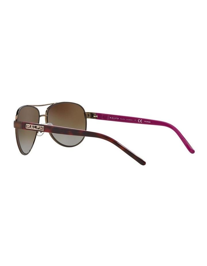 Polarised Burgundy Pilot Sunglasses RA4004 348564 image 5
