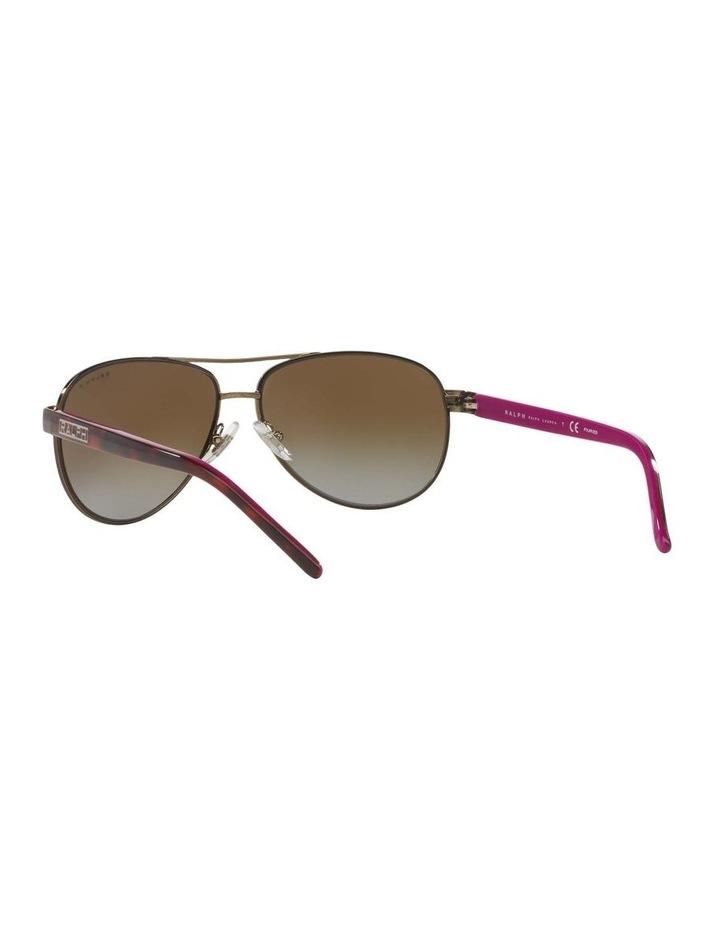 Polarised Burgundy Pilot Sunglasses RA4004 348564 image 6