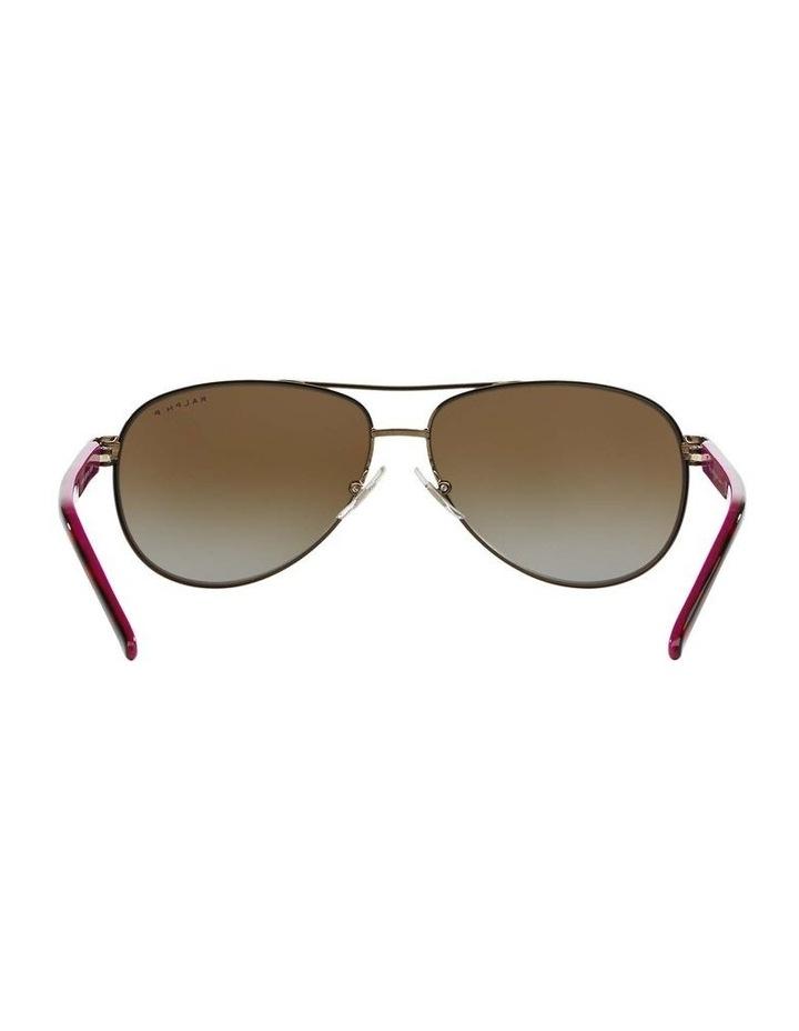 Polarised Burgundy Pilot Sunglasses RA4004 348564 image 7