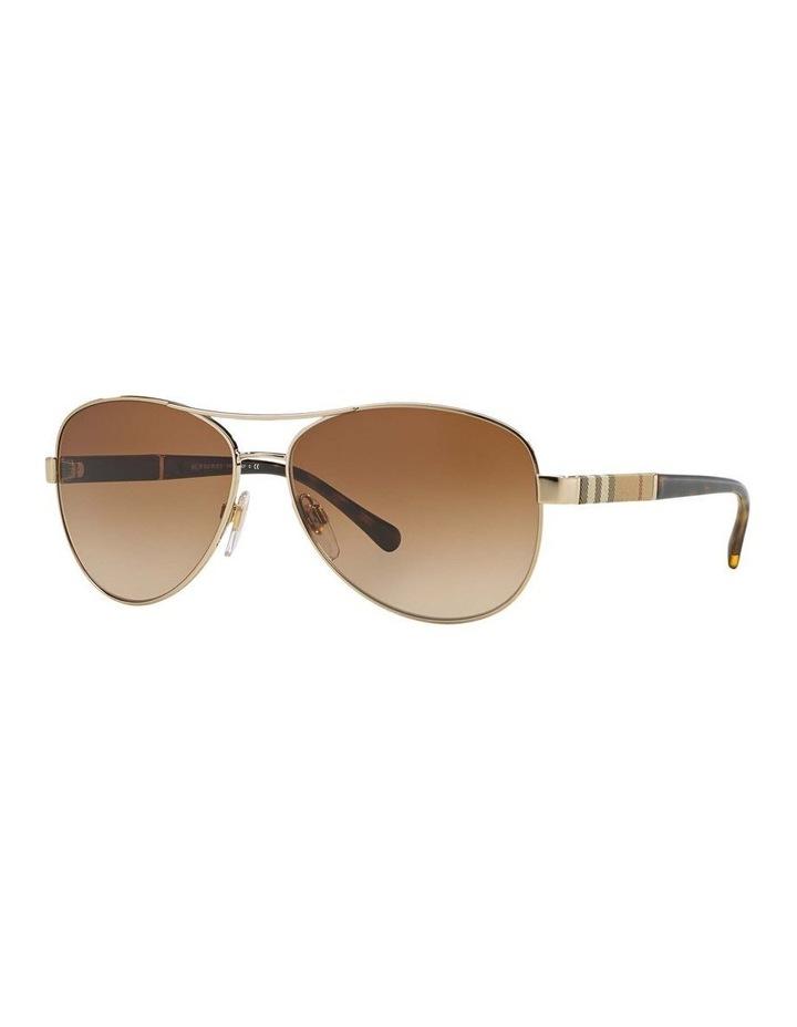 Light Gold Aviator Sunglasses BE3080 369212 image 1