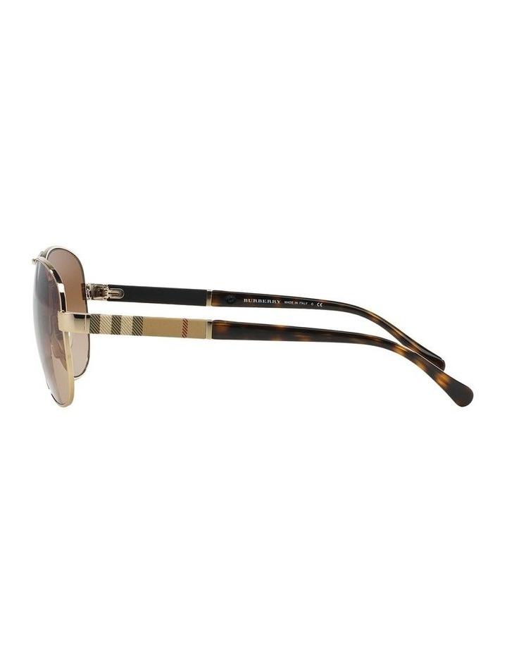 Light Gold Aviator Sunglasses BE3080 369212 image 4