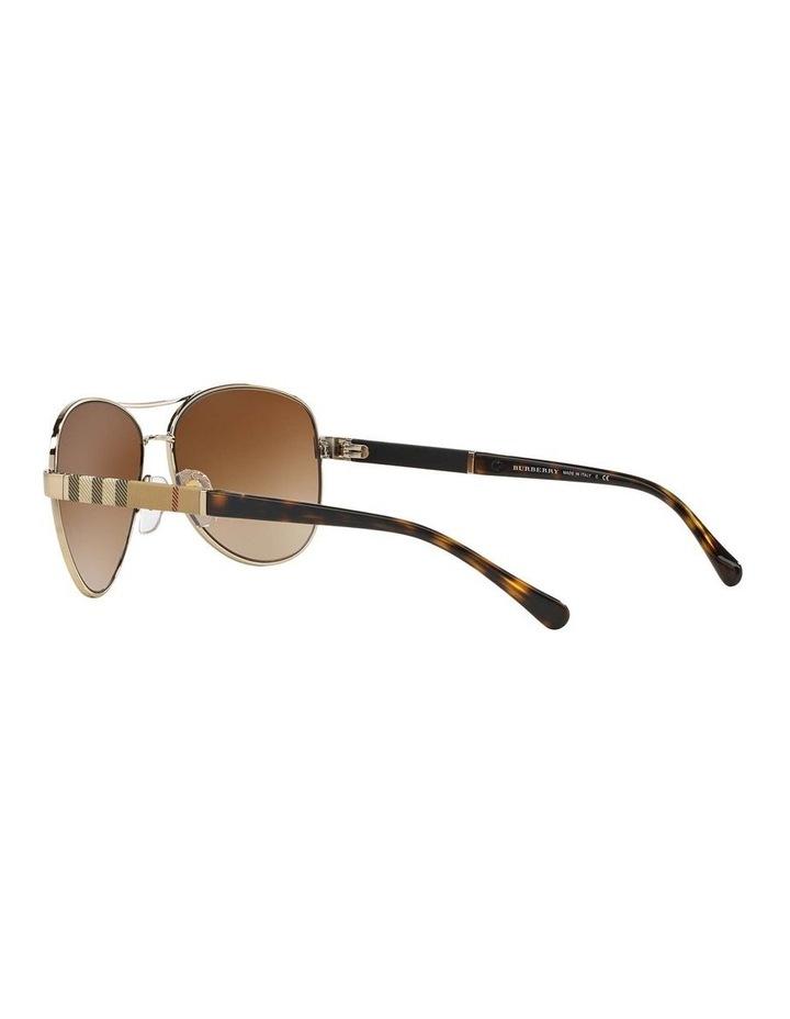 Light Gold Aviator Sunglasses BE3080 369212 image 5