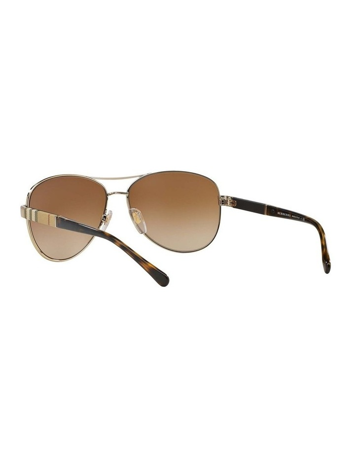 Light Gold Aviator Sunglasses BE3080 369212 image 6