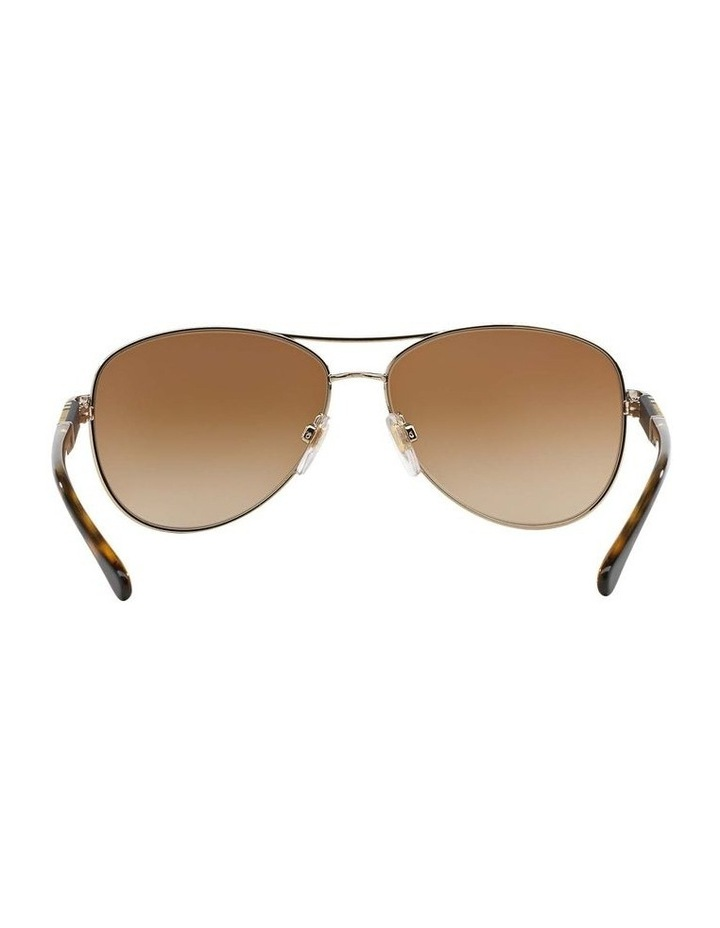 Light Gold Aviator Sunglasses BE3080 369212 image 7