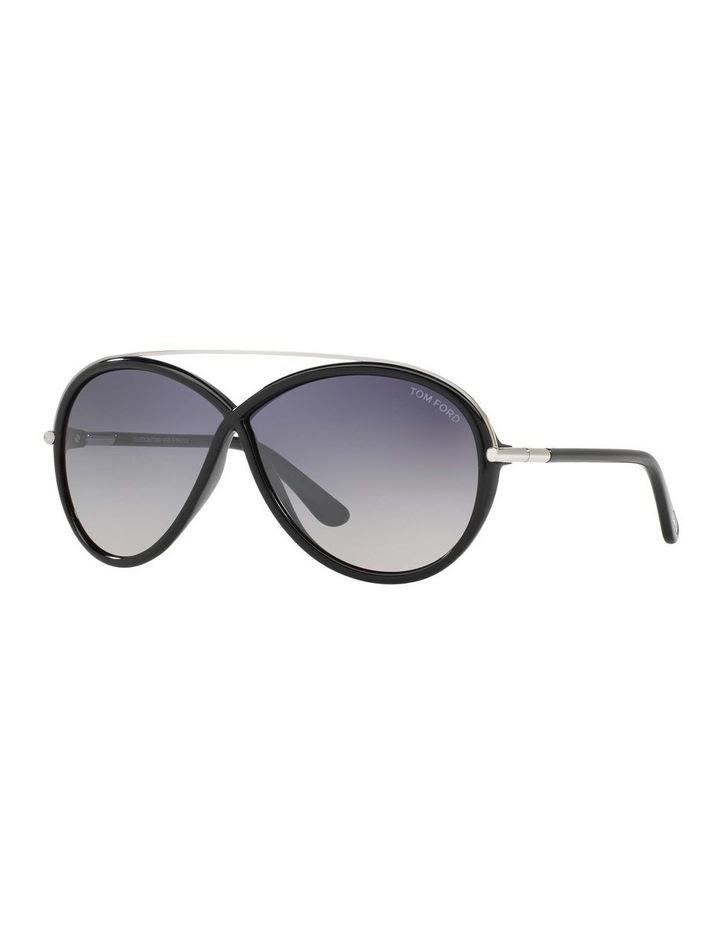 Tamara Black Oval Sunglasses 388155 image 1