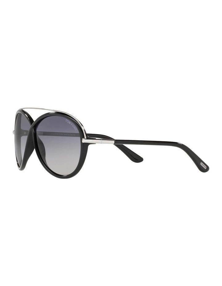 Tamara Black Oval Sunglasses 388155 image 3