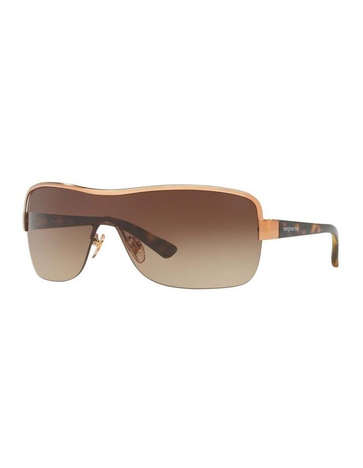 Brown Shield Sunglasses HU1003 409040 image 1