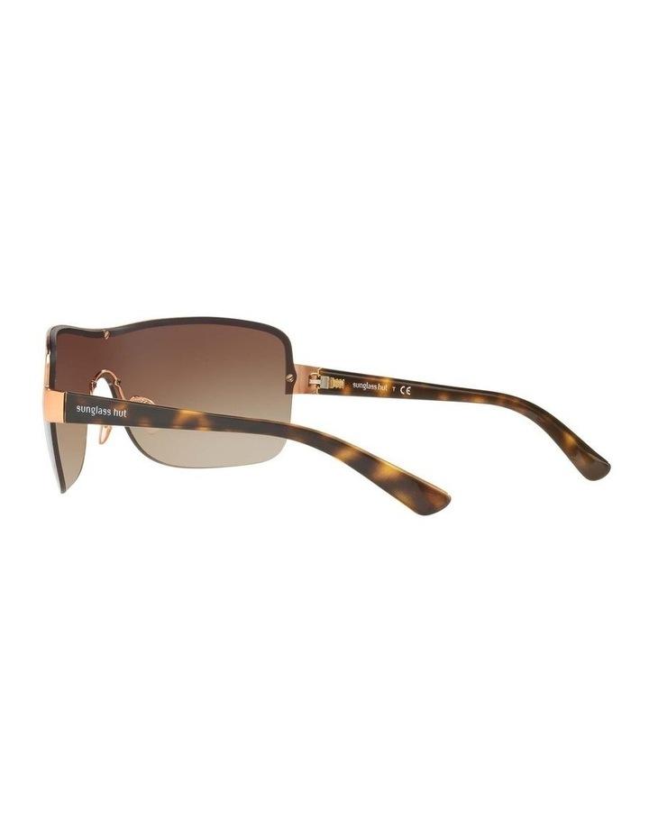 Brown Shield Sunglasses HU1003 409040 image 5