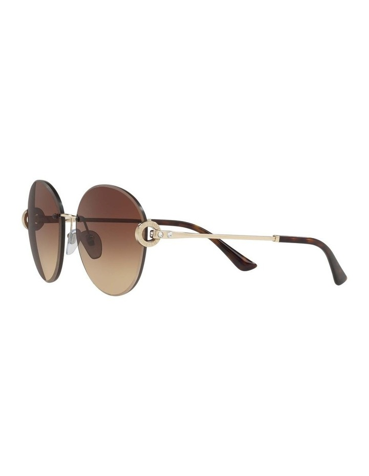 Gold Rimless Round Sunglasses BV6091B 406349 image 3