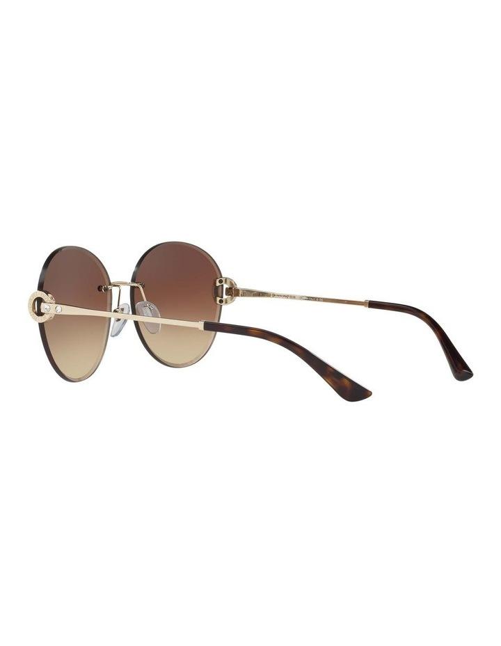 Gold Rimless Round Sunglasses BV6091B 406349 image 5
