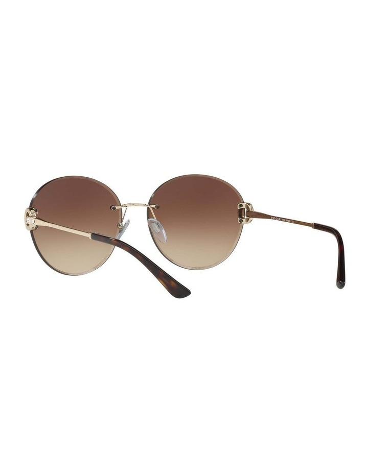 Gold Rimless Round Sunglasses BV6091B 406349 image 6