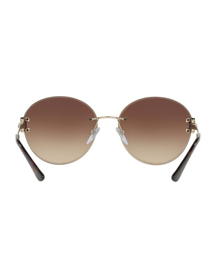 Gold Rimless Round Sunglasses BV6091B 406349 image 7