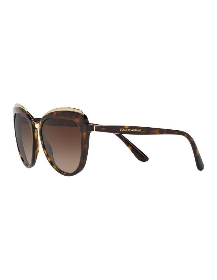 Tortoise Cat Eye Sunglasses DG4304F 402017 image 3