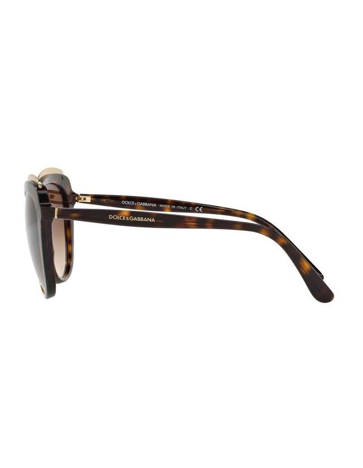 Tortoise Cat Eye Sunglasses DG4304F 402017 image 4