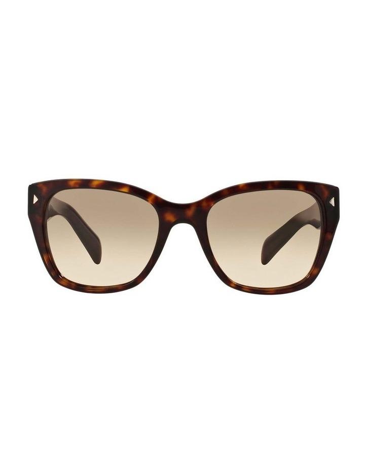 Tortoise Square Sunglasses PR 09SSF 387691 image 2