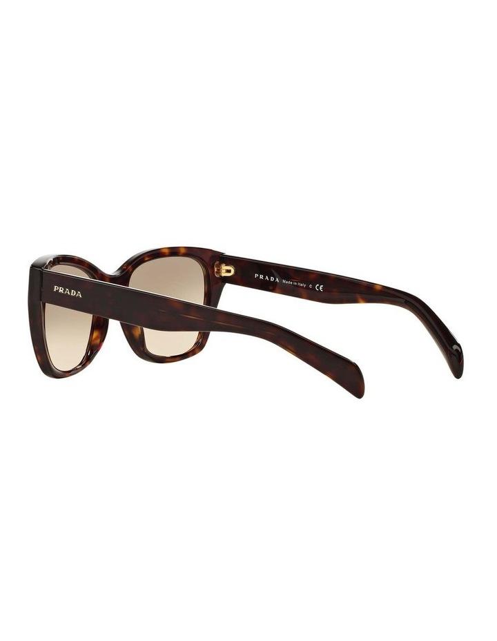 Tortoise Square Sunglasses PR 09SSF 387691 image 5