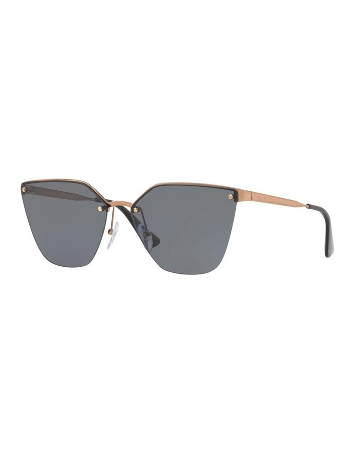 Polarised Gold Cat Eye Sunglasses PR 68TS 405145 image 1