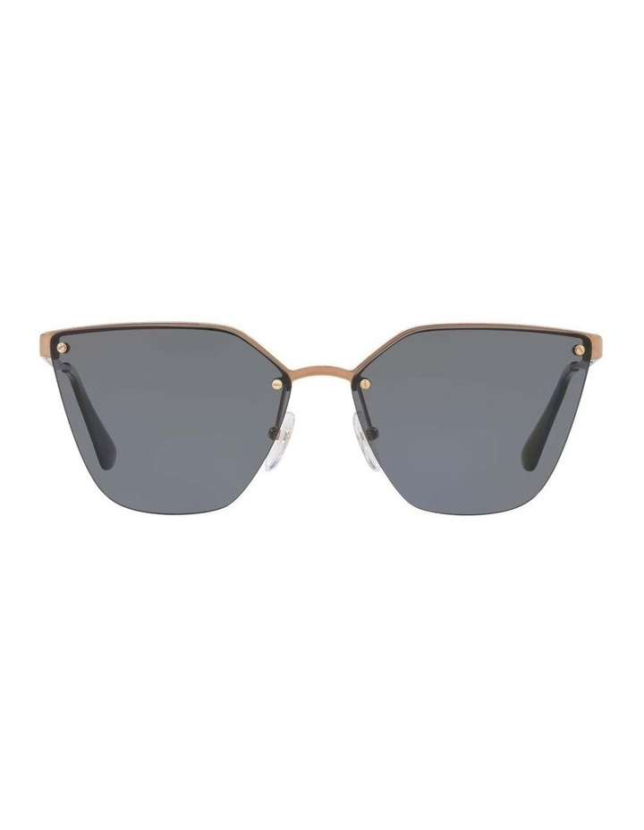 Polarised Gold Cat Eye Sunglasses PR 68TS 405145 image 2