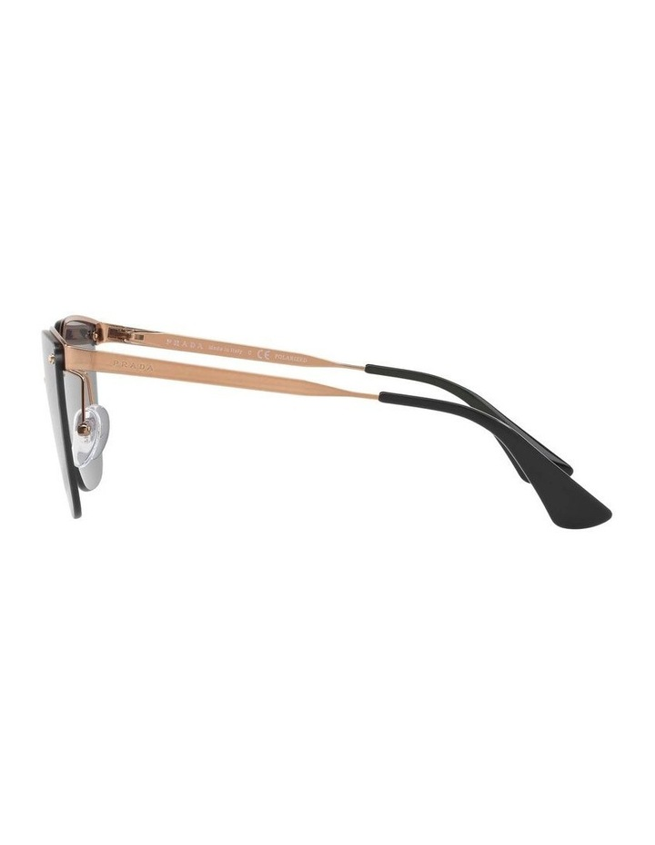 Polarised Gold Cat Eye Sunglasses PR 68TS 405145 image 4
