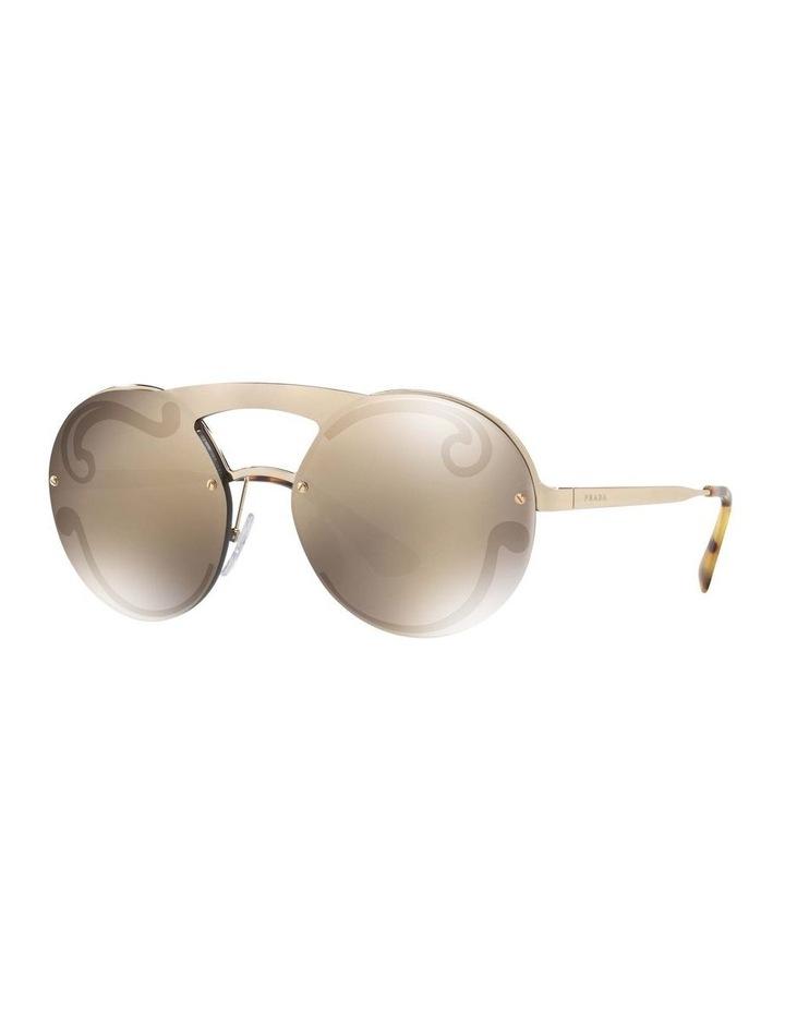 Gold Rimless Round Sunglasses PR 65TS 407774 image 1