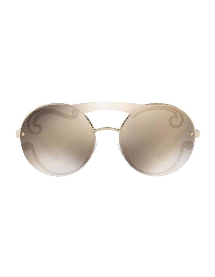 Gold Rimless Round Sunglasses PR 65TS 407774 image 2