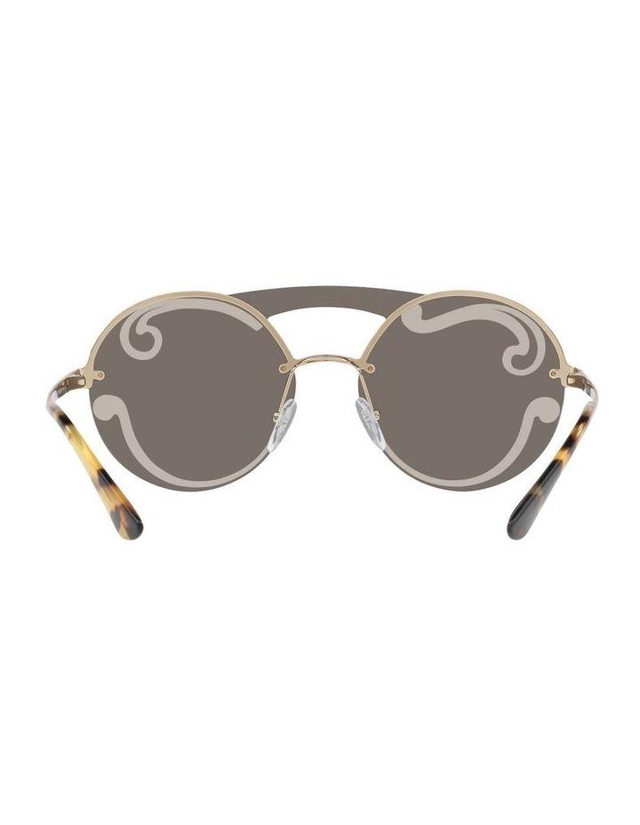 Gold Rimless Round Sunglasses PR 65TS 407774 image 7