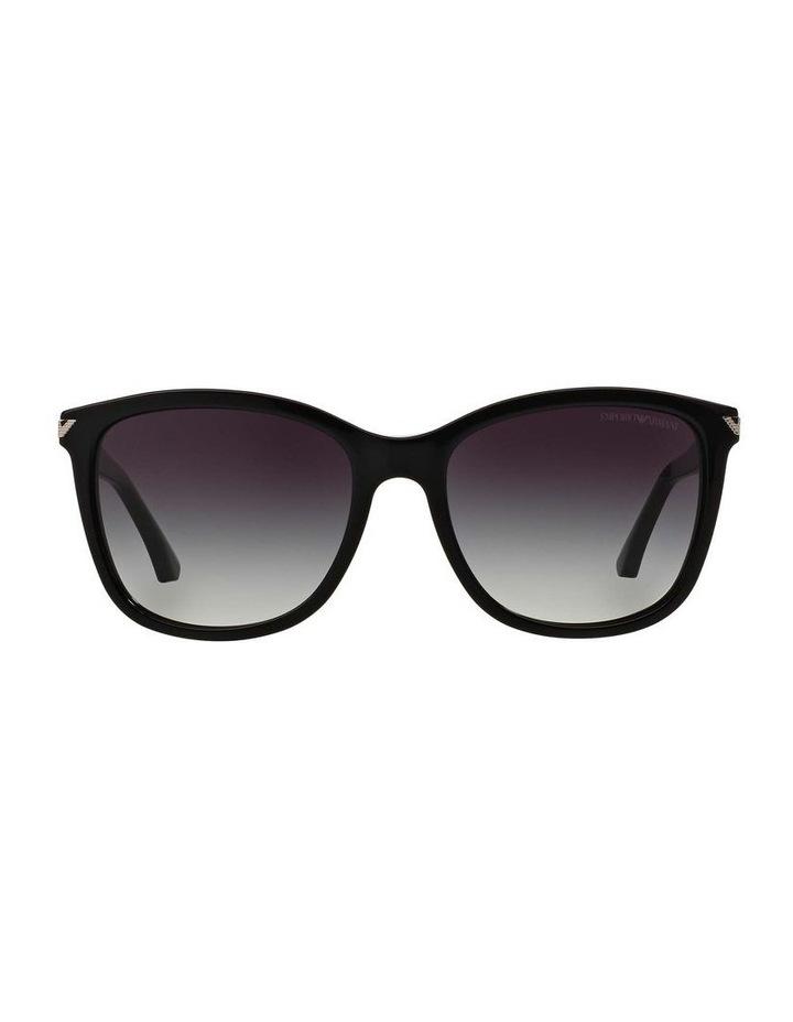 Black Square Sunglasses EA4060F 387579 image 2